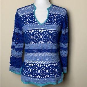 Vintage Esprit Crochet SemiSheer Blouse